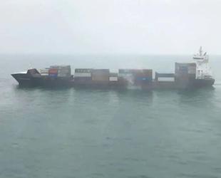 'X-Press Godavari' isimli konteyner gemisinde yangın çıktı