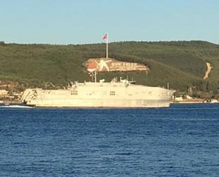 'USNS Carson City' isimli yüksek hızlı transfer gemisi, Çanakkale Boğazı'ndan geçti