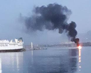Girne'de sürat teknesinde yangın çıktı: 4 kişi kurtarıldı