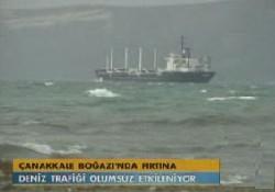 Lodos deniz ulaşımını engelliyor