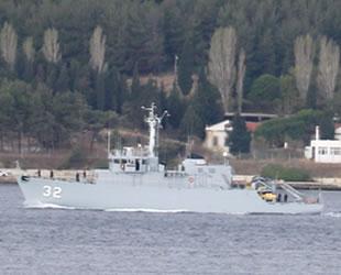 Bulgar savaş gemisi Çanakkale Boğazı'ndan geçti