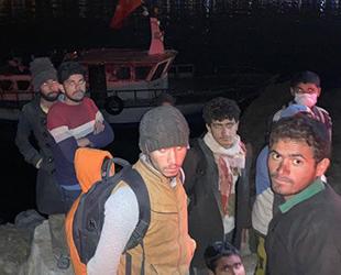 Van'da teknede 22 kaçak göçmen yakalandı