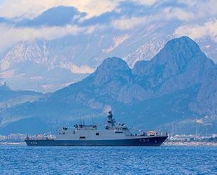 TCG Kınalıada korveti, Antalya açıklarına demir attı