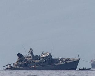 Yunan mayın tarama gemisi NTHI Kallisto'nun çatışma sonrası görüntüleri ortaya çıktı