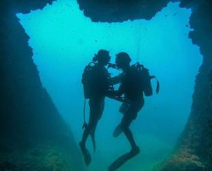 'Aşk mağarası' dalış tutkunlarının ilgi odağı oldu
