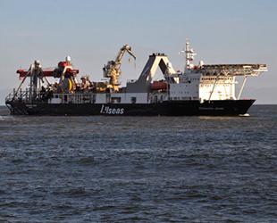 Calamity Jane boru döşeme gemisi, söküm için Aliağa'ya geldi