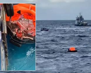 Carmen isimli açık deniz araştırma gemisi battı: 18 mürettebat kurtarıldı