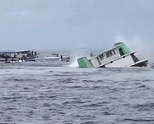 Agenor Gordilho isimli arabalı feribot yapay resif için batırıldı