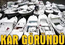 Mevsimin ilk karı İstanbul'a düştü!