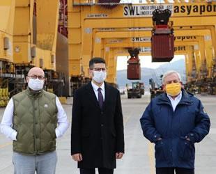 Burak Dağlıoğlu, Asyaport Limanı'nda incelemelerde bulundu
