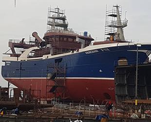 Hat-San Tersanesi, Vikingbank balıkçı gemisini deniz indirdi