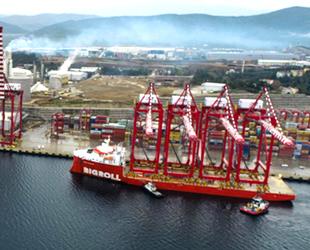 YILPORT'un STS vinçleri, Gemlik Konteyner Terminali'ne ulaştı