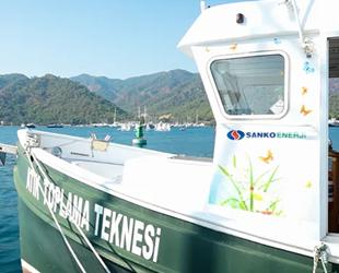 TURMEPA I teknesi, Göcek'te 611 bin litre atık topladı