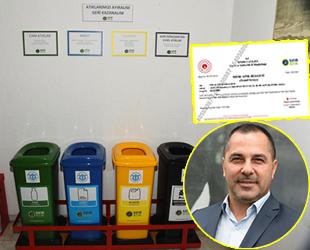 İMEAK Deniz Ticaret Odası İzmir Şubesi 'Sıfır Atık Belgesi'ni aldı