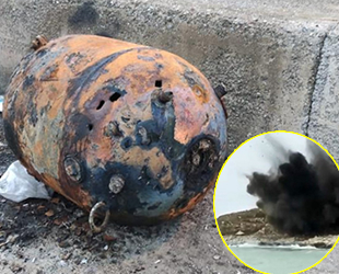 Sinop'ta bulunan deniz mayını imha edildi