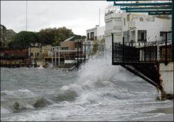 Bodrum ve Datça'da fırtına