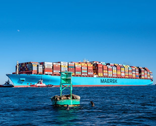 MAERSK ESSEN konteyner gemisi, Kuzey Pasifik'te yüzlerce konteyner kaybetti