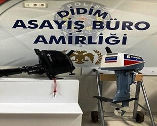 Didim'de tekne motoru hırsızları yakalandı