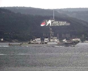 'USS Donald Cook' savaş gemisi, Çanakkale Boğazı'ndan geçti