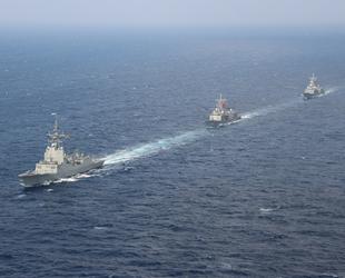 TCG GEDİZ fırkateyni, NATO Daimi Deniz Görev Grubu-2 ile geçiş eğitimi gerçekleştirdi