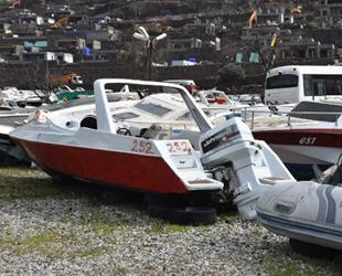 Bodrum'daki yediemin, kaçak göçmen tekneleriyle doldu