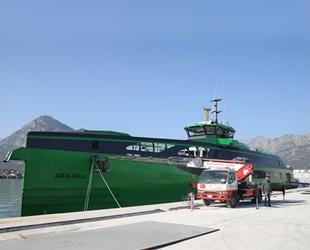 'Damen FCS 7011' isimli gemi, denize indirildi