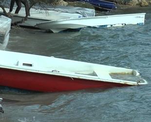 Bodrum'daki fırtına balıkçı teknelerini batırdı