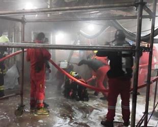 Altınova'da tersanedeki gemide çıkan yangın söndürüldü