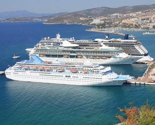 Kruvaziyer turizmi 2020 yılını 5 gemiyle kapattı