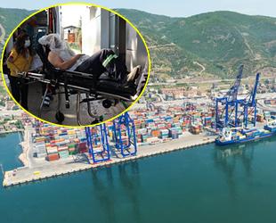 Evyapport Limanı'nda patlama: 1 yaralı