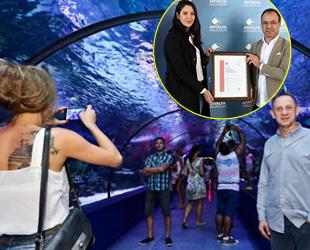 Antalya Akvaryum, 'Güvenli Turizm Sertifikası' aldı