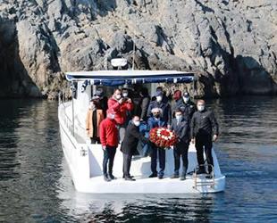 79 yıl önce batan Kurtuluş gemisi anısına tören yapıldı