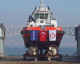 UZMAR'ın Kıyı Emniyeti'ne inşa ettiği Kurtarma-14 römorkörü denizle buluştu
