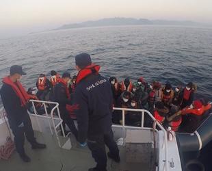 Ölüme terk edilen 32 göçmeni Sahil Güvenlik ekipleri kurtardı