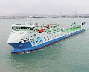 'Azerbaycan' isimli Ro-Pax tipi feribot denize indirildi