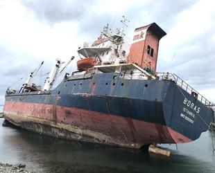 Kartal'da rıhtıma bağlı olan Boras isimli gemi yan yattı