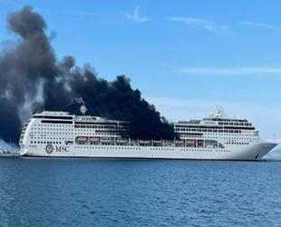 MSC Lirica isimli yolcu gemisinde yangın çıktı