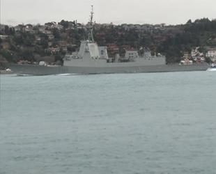İspanyol savaş gemisi, İstanbul Boğazı'ndan geçti