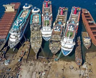 108 adet hurda gemiden ekonomiye 450 milyon dolar katkı sağlandı