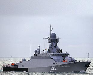 Kalibr füzeli Rus Orehovo-Zuyevo savaş gemisi, Akdeniz'de göreve başladı