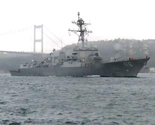 ABD savaş gemisi, İstanbul Boğazı'ndan geçti