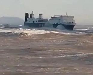 Hacizli olan Aqua Herkules isimli Ro-Ro gemisi, Hatay'da karaya oturdu