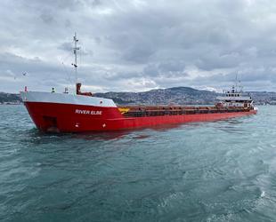River Elbe isimli gemi, İstanbul Boğazı'nda arızalandı