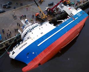 İnşa aşamasındaki SKORPION isimli gemi yan yattı: 2 ölü
