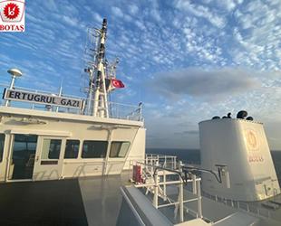 Türkiye'nin yeni FSRU gemisi Ertuğrul Gazi'ye Türk bayrağı çekildi