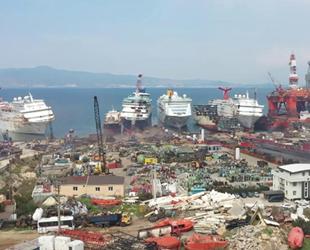 Ömrünü tamamlayan gemilerin son adresi Aliağa oluyor