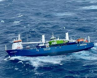 Yan yatan Eemslift Hendrika isimli gemideki 12 mürettebat kurtarıldı