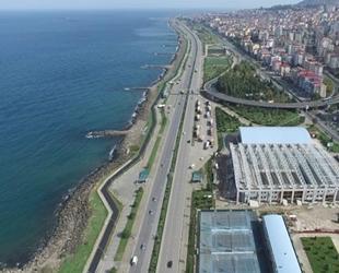 Trabzon, yapılan dolgu çalışmalarıyla denizden uzaklaşıyor