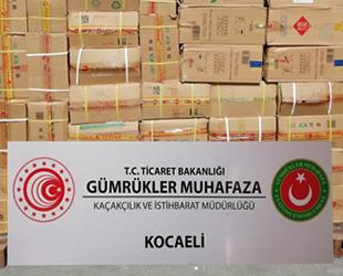 Kocaeli'de bir limanda 15 milyon liralık kaçak eşya ele geçirildi