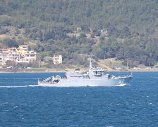 Bulgar mayın avcı gemisi, Çanakkale Boğazı'ndan geçti